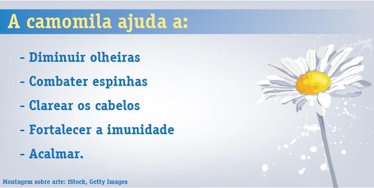 camomila tem outros benefícios alem de acalmar