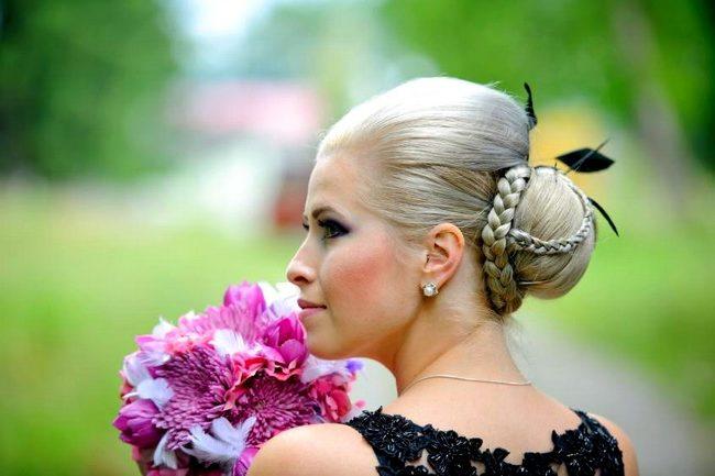 Coque como penteado para casamento